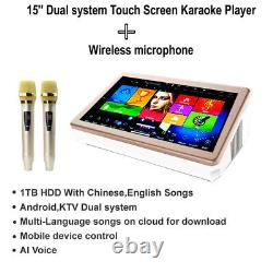 1.5TB HDD 15'' Dual system Touch screen Karaoke Player, Chinese, English Songs