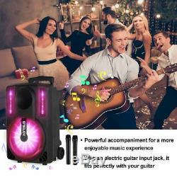 All in One Machine Karaoke System Disco Lights Bluetooth CD/USB /Microphone New