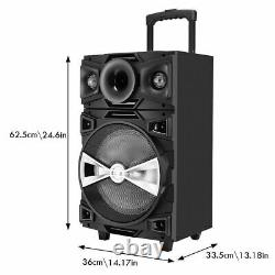 Bluetooth Karaoke Machine With 12-inch Subwoofer Wireless Pa Speaker System Home