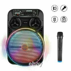 Bluetooth Karaoke Machine with 12-inch Subwoofer with Wireless PA Speaker System