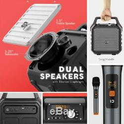Bluetooth Speakers with Handheld Microphone Portable PA System Karaoke Machine
