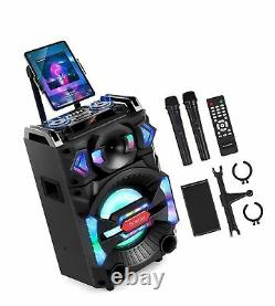Euterpy Karaoke Machine for Adults, Portable PA System Bluetooth Speaker with