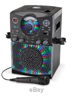 Karaoke Machine System Bluetooth CD/G Audio Music Player with Lights &Microphone