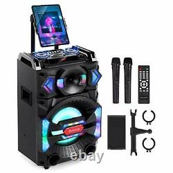 Karaoke Machine for Adults, Portable PA System Bluetooth Speaker with 10'
