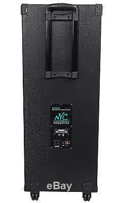 NYC Acoustics Dual 12 Karaoke Machine/System 4 ipad/iphone/Android/Laptop/TV