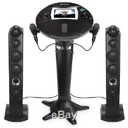 No Tax! Singing Machine Bluetooth Pedestal Karaoke System With 2 Mic 7 Disp