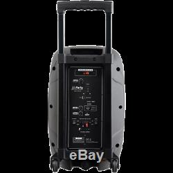 PLS 300W 8 Portable PA Active Speaker Bluetooth System 1 Wireless Mic Battery