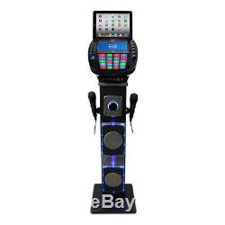 Pedestal Karaoke Machine CDG Bluetooth System Light Effects Party Microphone