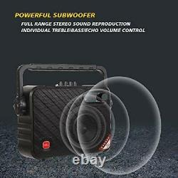 Portable Karaoke Machine, Bluetooth PA System with 6.5 Subwoofer, Colorful