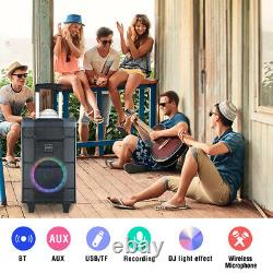 Portable Karaoke Machine Subwoofer 500W PA Speaker System Home Party Microphones