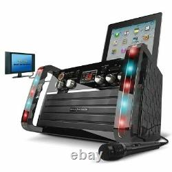 Professional Karaoke Machine System Bluetooth Microphone CD With LED Party Lights