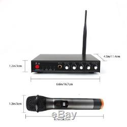 Professional Wireless Microphone System for Karaoke Machine with Receiver to Amp
