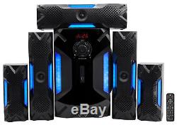 Rockville 5.1 Home Theater System+Karaoke Machine with 8 Sub, Bluetooth+(2) Mics