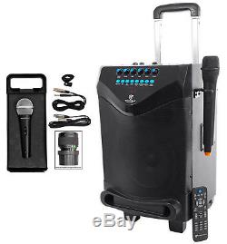 Rockville 8 Portable YouTube Bluetooth Karaoke Machine/System+(2) Microphones
