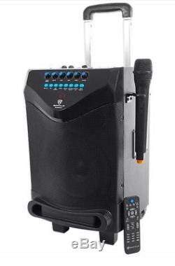 Rockville 8 Portable YouTube Bluetooth Karaoke Machine/System with Wireless Mic