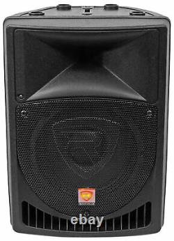 Rockville 8 Powered Pro Karaoke Machine/System withLED's+(2) Wireless Microphones
