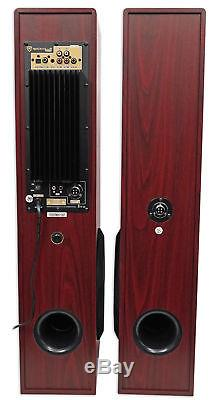 Rockville All-in-one Bluetooth Home Theater/Karaoke Machine System+Subs+(2) Mics