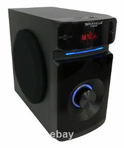 Rockville Bluetooth Home Theater Karaoke Machine System with5.25 Subwoofer+LED'S