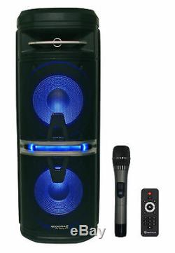 Rockville Go Party X10 Rechargeable Karaoke Machine System+3 Mics+Tablet Stand