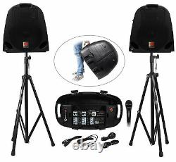 Rockville Portable YouTube Karaoke Machine/System with Mixer+Stands+(5) Mics
