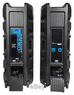 Rockville Pro Gig Karaoke Machine System with2 Dual 15 Speakers withBluetooth+Mics