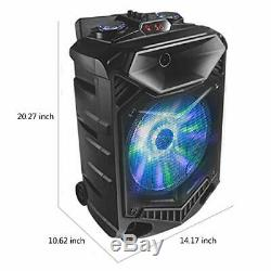 Shinco 12-inch woofer Bluetooth PA Speaker System, Portable Karaoke Machine with