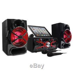 Singing Machine Bluetooth Karaoke System LCD with 2 Microphones Resting Tablet