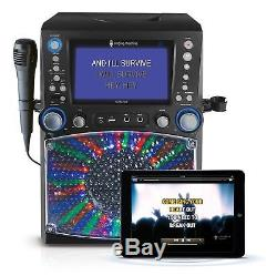 Singing Machine Bluetooth Karaoke System with 7 Color Monitor & Microphone Set