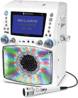 Singing Machine Bluetooth Karaoke System with 7llll Color Monitor and Microphone