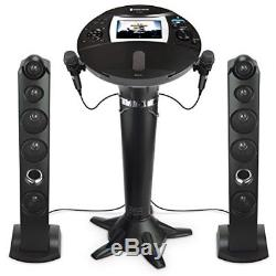 Singing Machine Bluetooth Pedestal Karaoke System with 2 Mic & 7 Display NO TAX