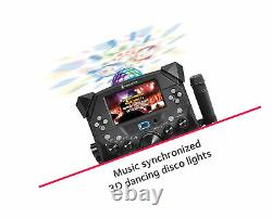Singing Machine SDL9040 Bluetooth Karaoke System With Two Mics, LCD Screen