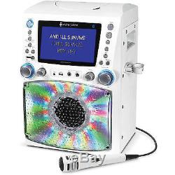Singing Machine STVG785BTW Bluetooth Karaoke System with 7 Color Monitor and a