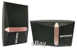 Singtronic Complete 1200W Karaoke System 40,000 Songs with Record & Wifi & Youtube
