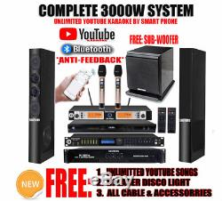 Singtronic Complete 3000W Karaoke System 80,000 Songs with Record & Wifi & Youtube
