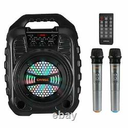 T26 Pro Karaoke Machine with 2 Wireless Microphones, Portable PA System