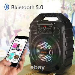 T26 Pro Karaoke Machine with 2 Wireless Microphones Portable PA System Bluetooth