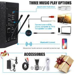 TONOR PA System Karaoke Machine with 50W Bluetooth Speaker Wireless Microphones