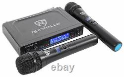 Technical Pro Dual 8 Rechargeable Karaoke Machine System+Stand+3 Wireless Mics
