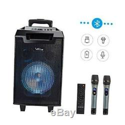 VeGue Karaoke Machine for Kids and Adults, Portable PA Speaker System with 8'' W