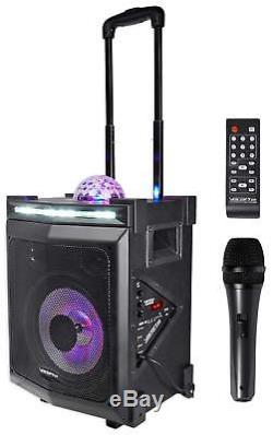 Vocopro LIGHTSHOW-MAGIC Bluetooth Karaoke Machine System withLED's+Mic+(2) Stands